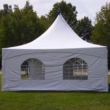20' x 20' High Peak Tent with Window Walls, Include Set Up & Take Down - Barrels for Tie Down Equipment is Extra