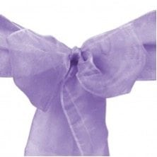TC109 Organza Sash Chair Cover Lavender