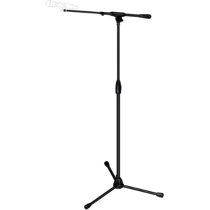 Adjustable Tripod Microphone Stand With Telescoping Boom.