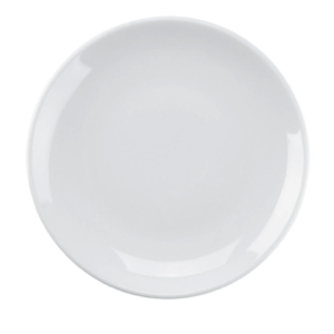 "6 1/2"" White Salad/Dessert Plate, Round Porcelain Fully Vitrified & Oven Proof"
