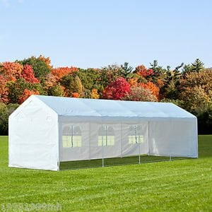 10' x 30' Tent with Window Walls Include Set Up & Take Down - Needs 8 Barrels for Tie Down