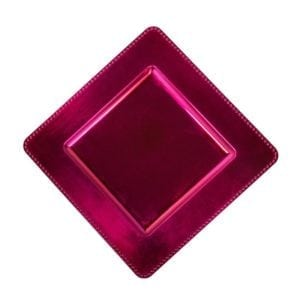 fuchsia square charger plate 13′