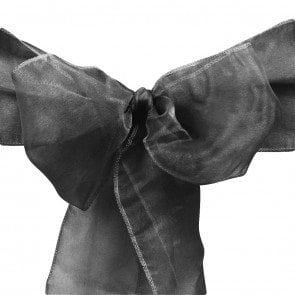 organza sash black