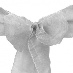 organza sash silver