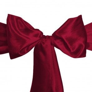 satin sash burgundy