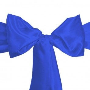 satin sash royal blue