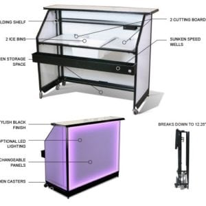 Portable Bar - LED Multi colors lighting