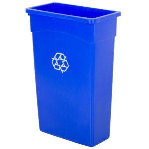 recible bin blue