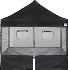 Food Booth Sidewall Package - 10' x 10' Black