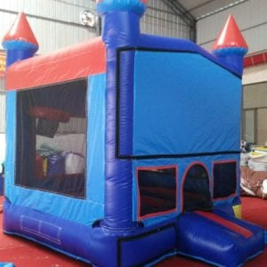 M3 - Mini bouncer BlueRed 10'x10' - with basketball hoop, add any front theme specify in notes