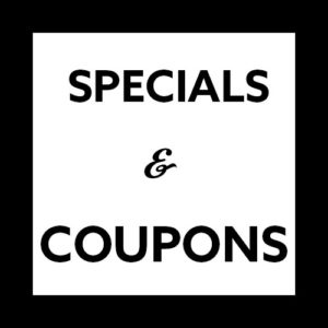 Specials & Coupons