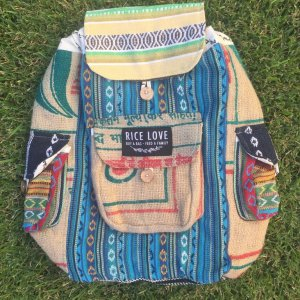 Rice Love Recycled Travel Backpack