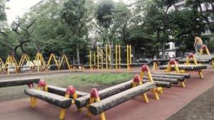 隅田公園のアスレチック