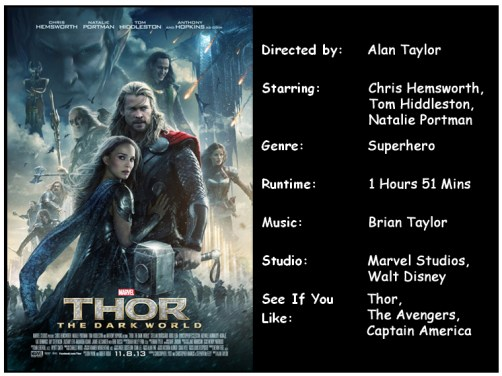 Thor The Dark World Movie Info