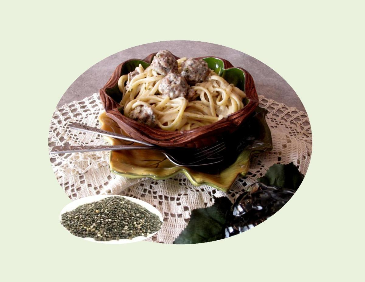 Chia Chicken Meatballs with Linguine