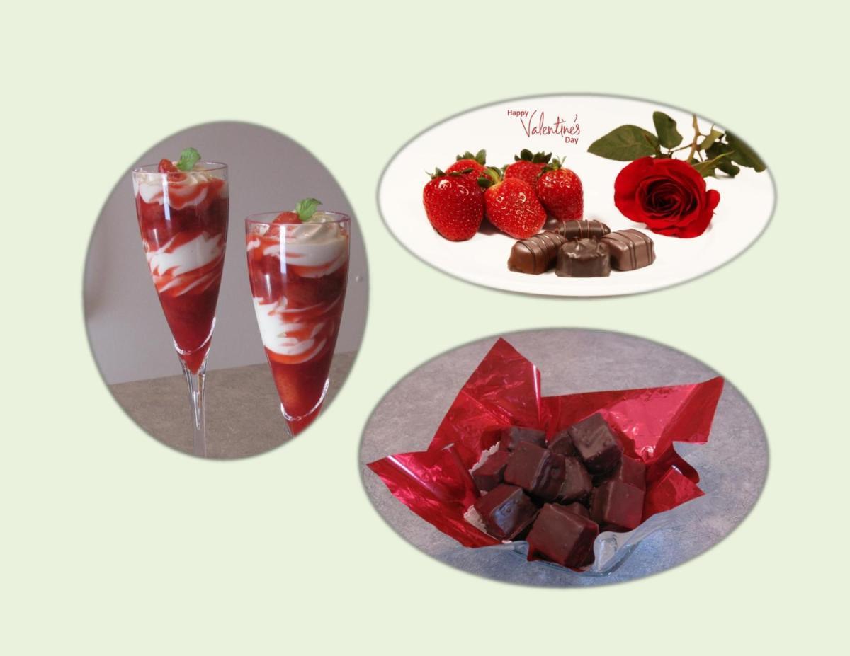 Strawberry Yogurt Parfaits / Chocolate Cheesecake Squares