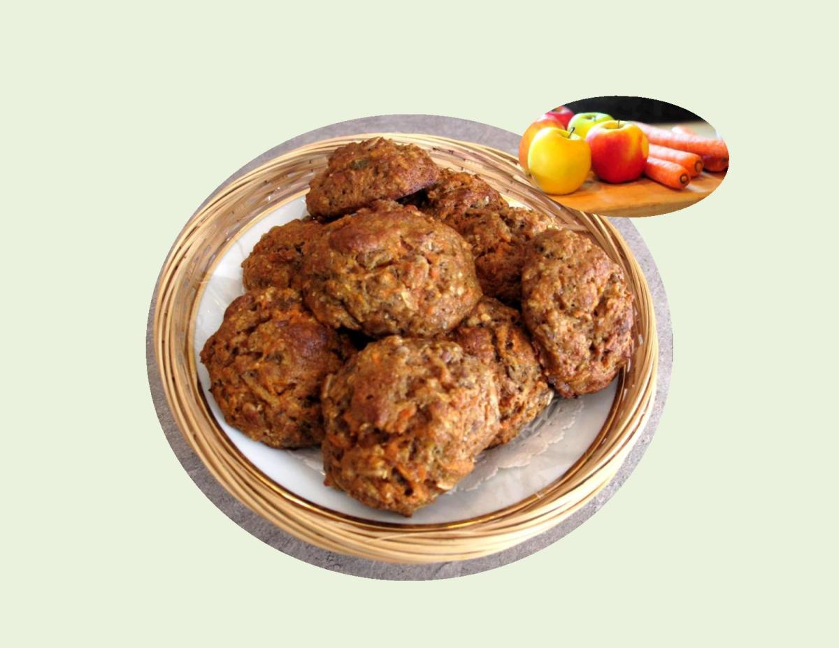 Spiced Apple & Carrot Scones