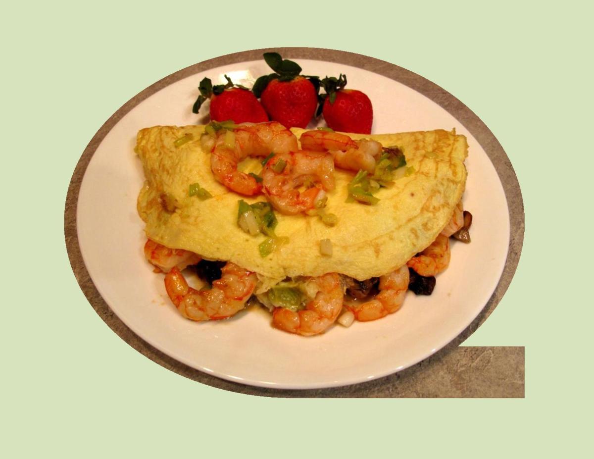 Seafood Avocado Omelette