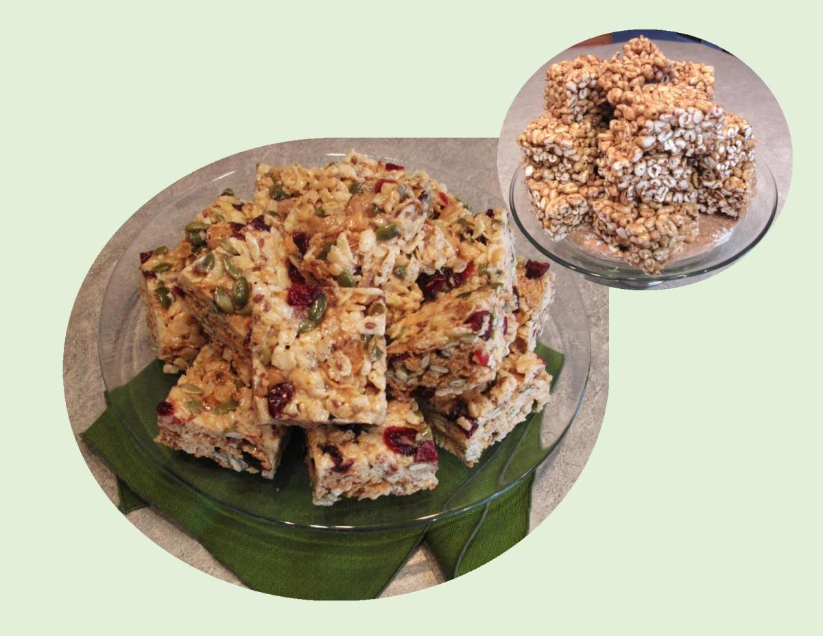 Vintage Puffed Wheat & Rice Krispie Squares