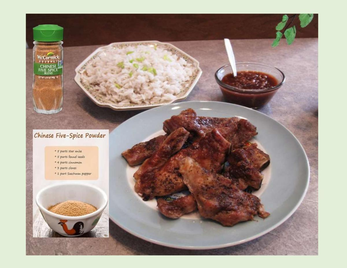 Chinese Pork Ribs with Spicy Rhubarb Sauce
