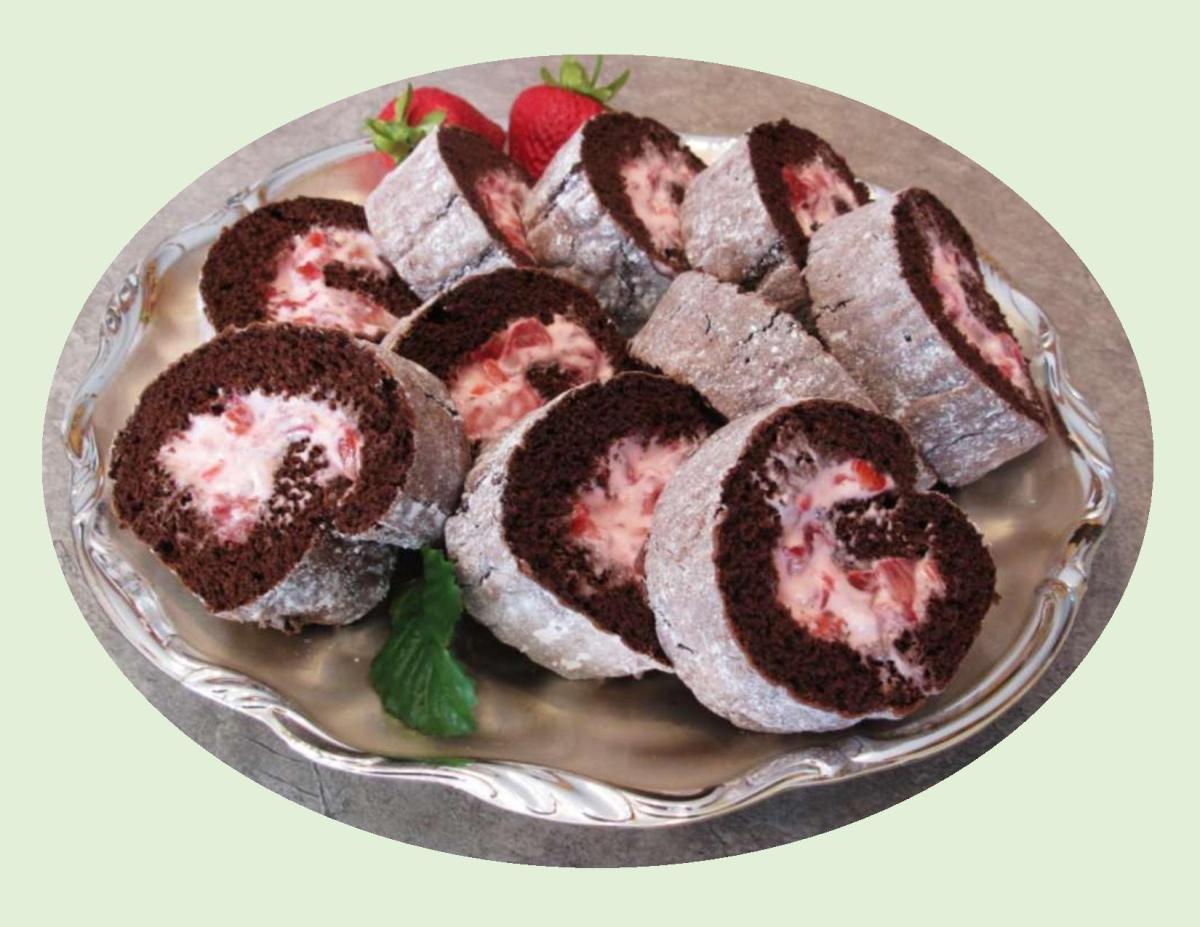 Strawberry Cream Chocolate Roll