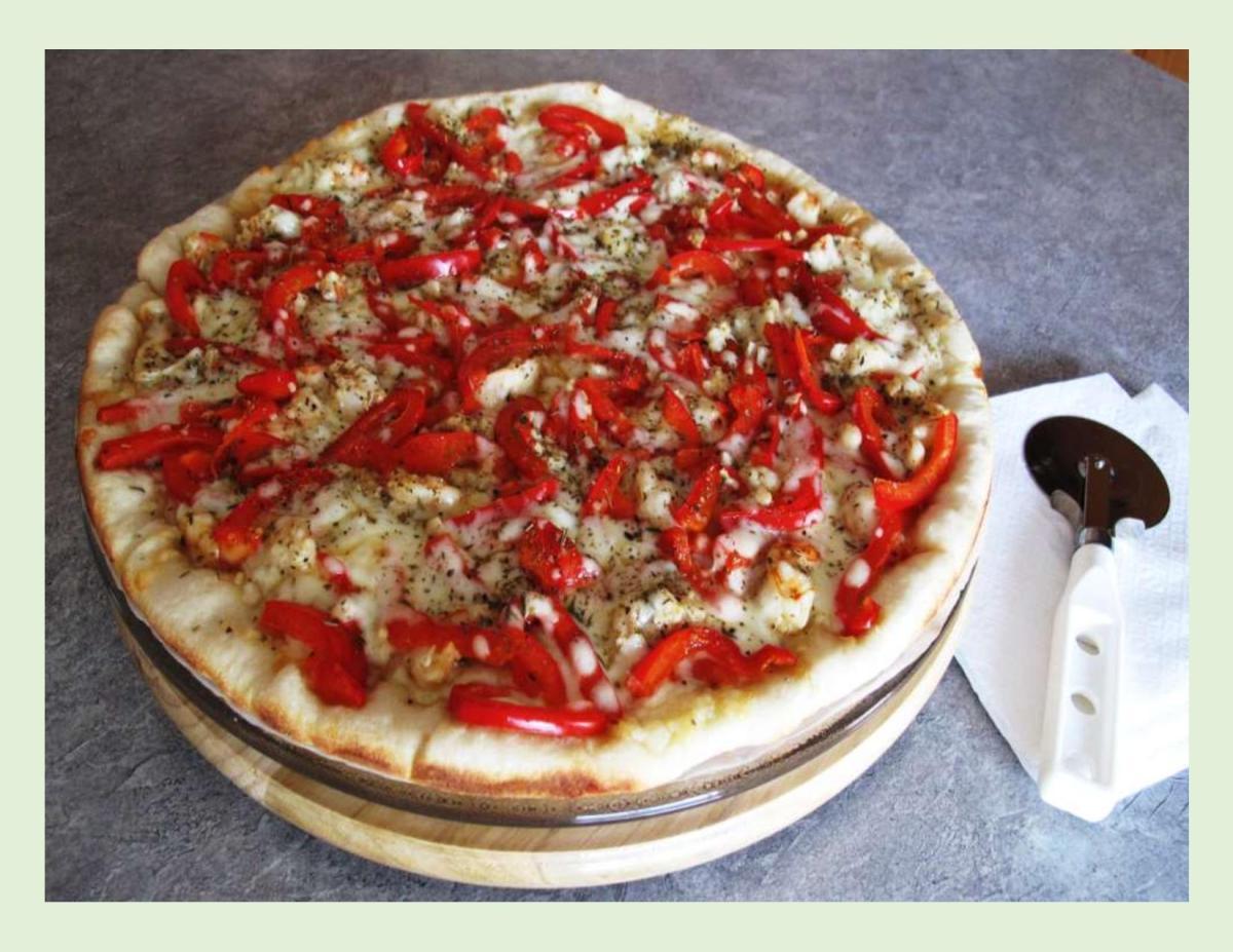 Wild Shrimp & Red Pepper Pizza