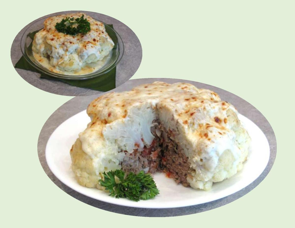 Roasted Beef Stuffed Cauliflower
