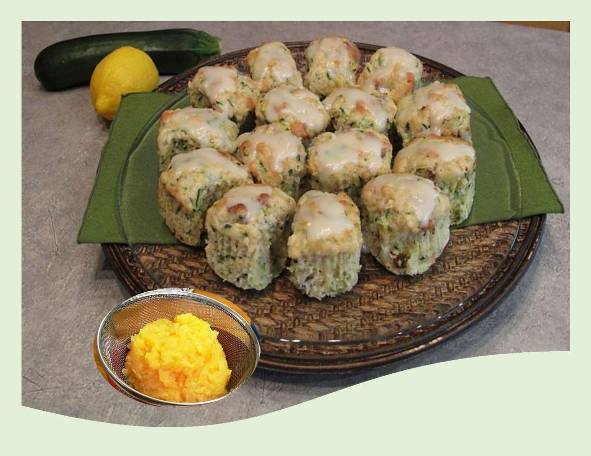 Zucchini 'Hummingbird' Squares with Lemon Drizzle