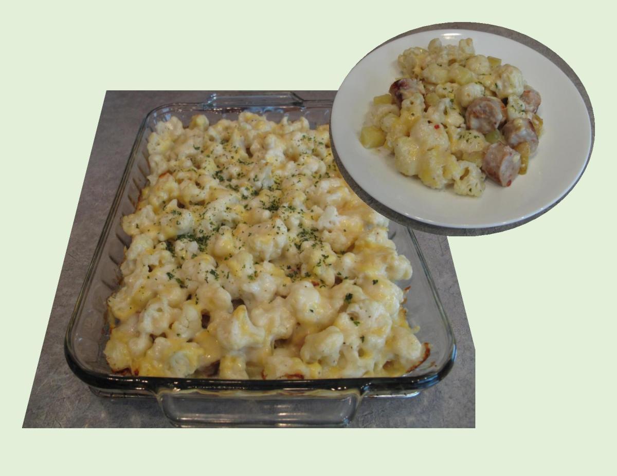 Cauliflower, Bratwurst & Potato Casserole