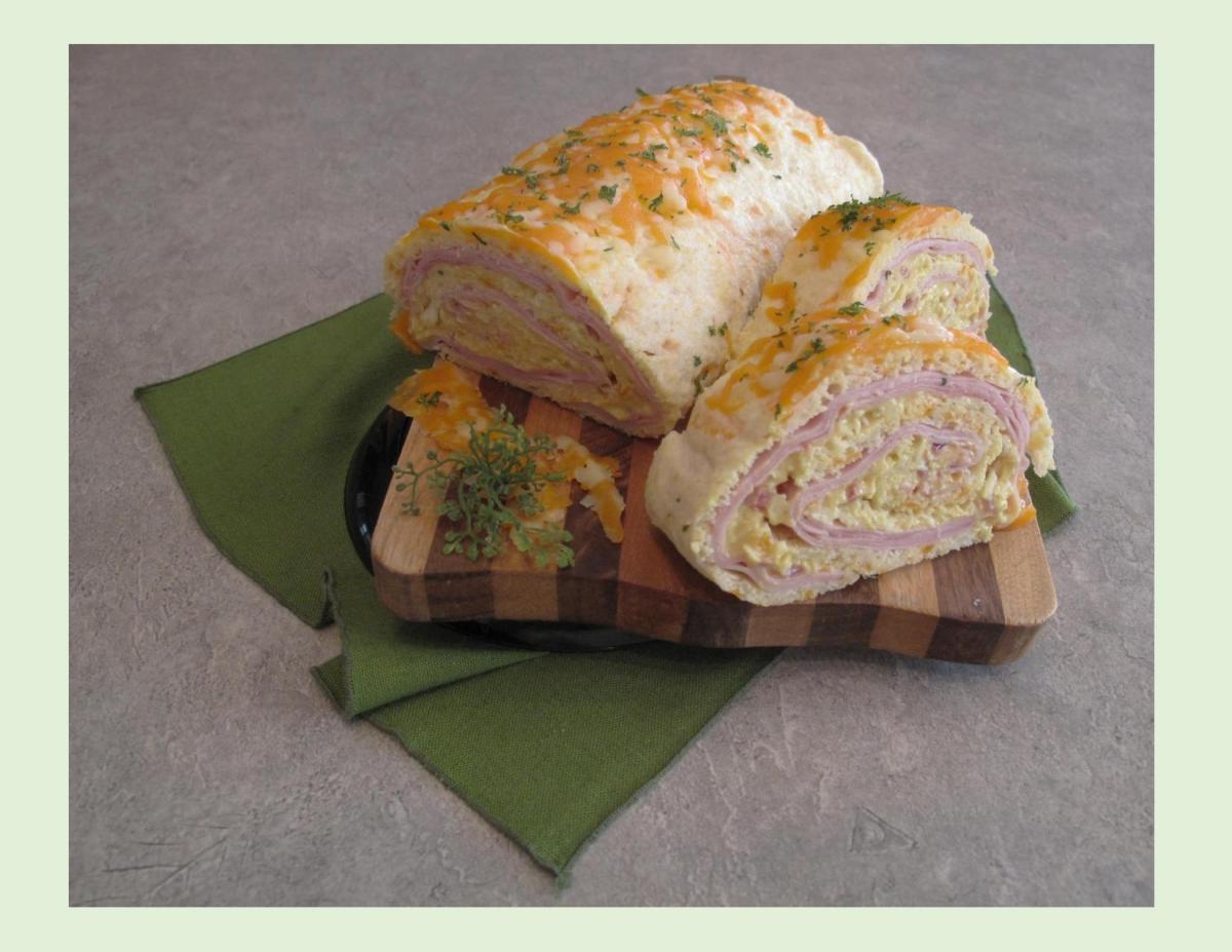 Ham & Cheese Cornbread Roll