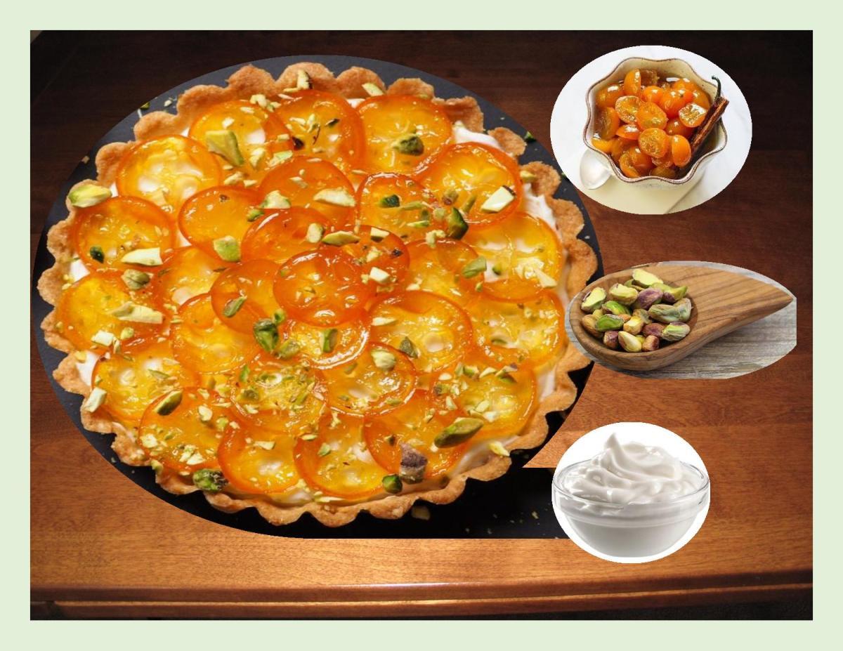 Spiced Kumquat & Greek Yogurt Tart