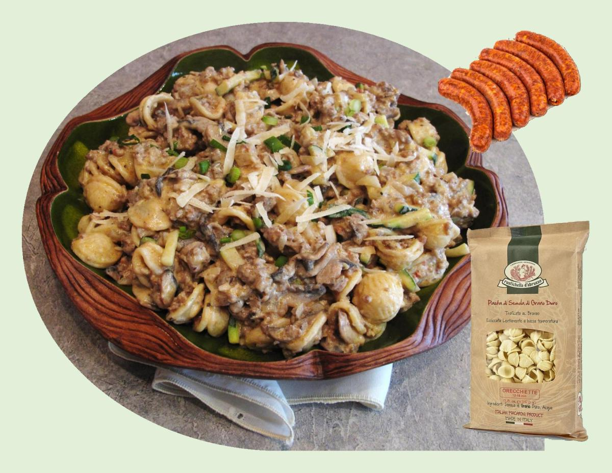 Creamy Mushroom & Sausage Orecchiette