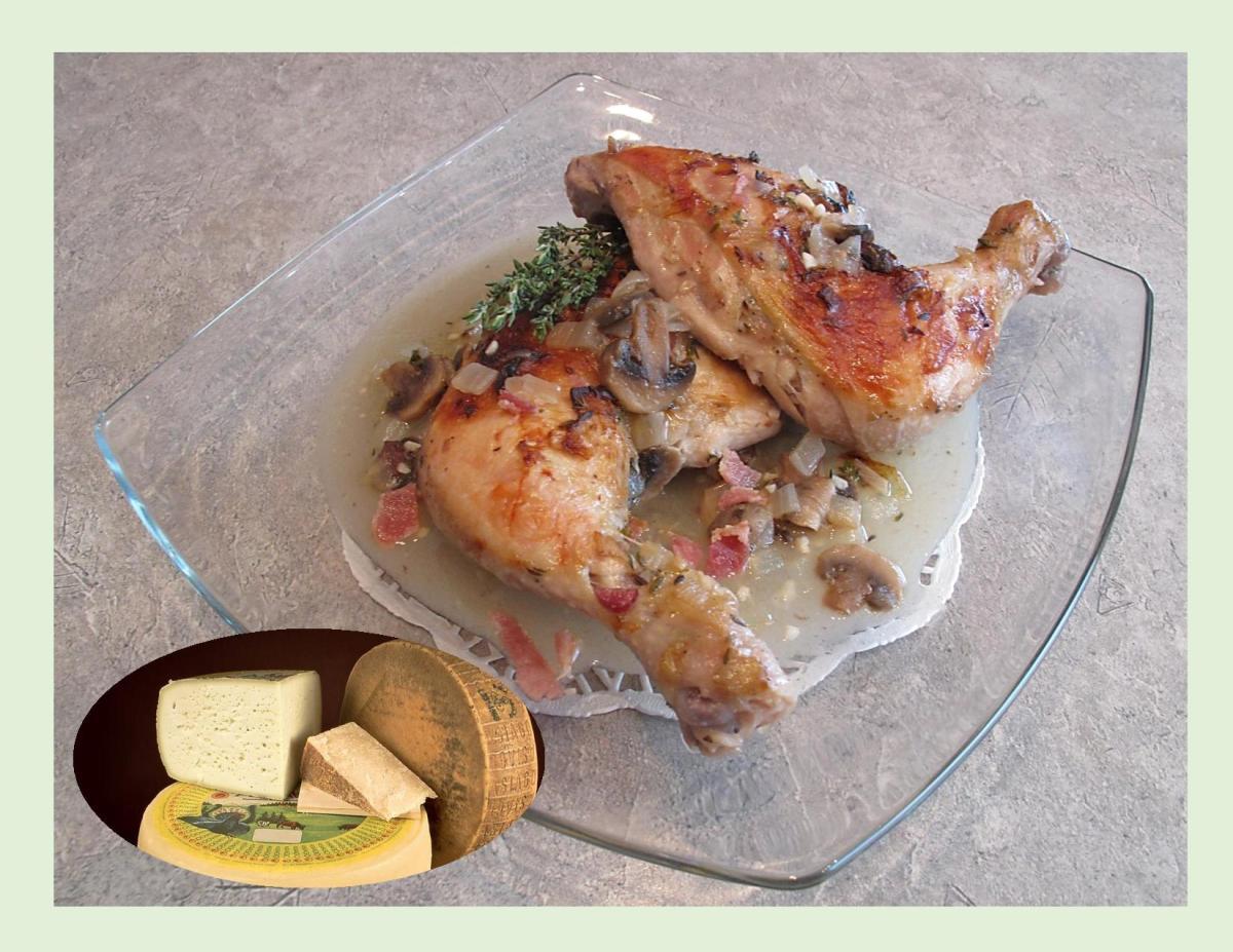 Roasted Garlic Chicken w/ Asiago Gravy