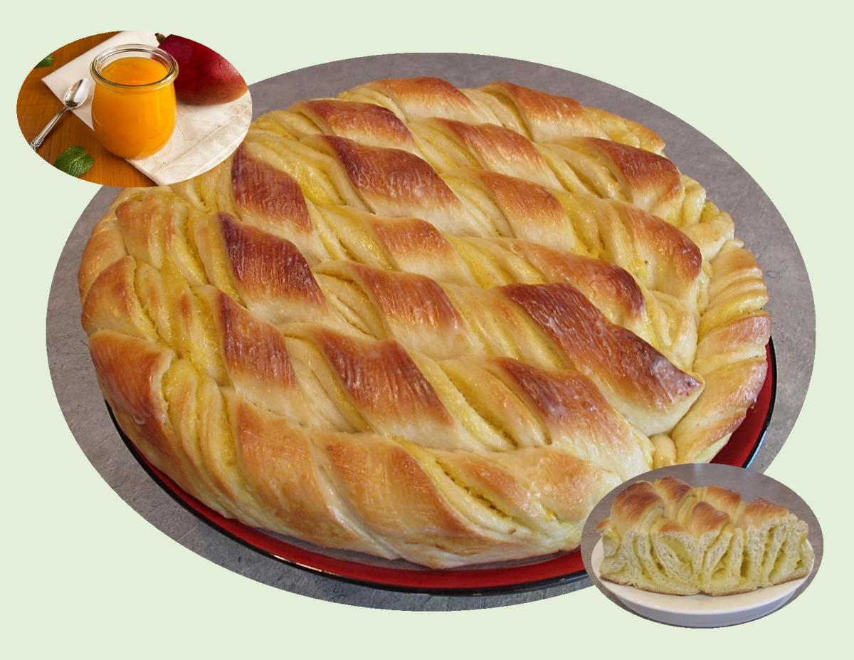 'Twisted' Mango Pie Bread