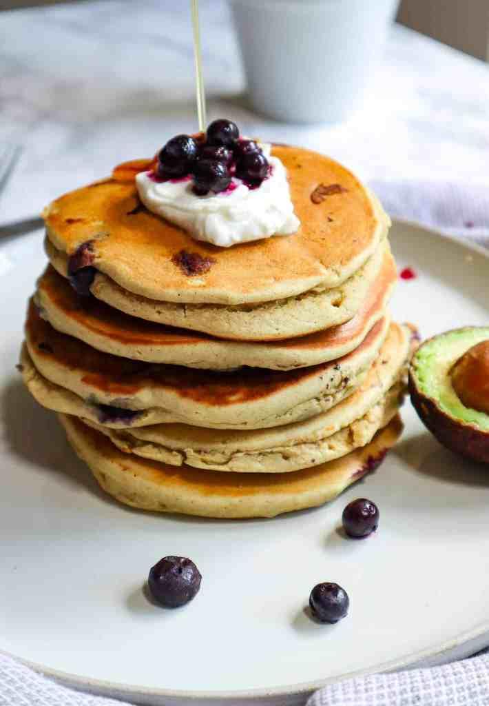 healthy avocado pancakes