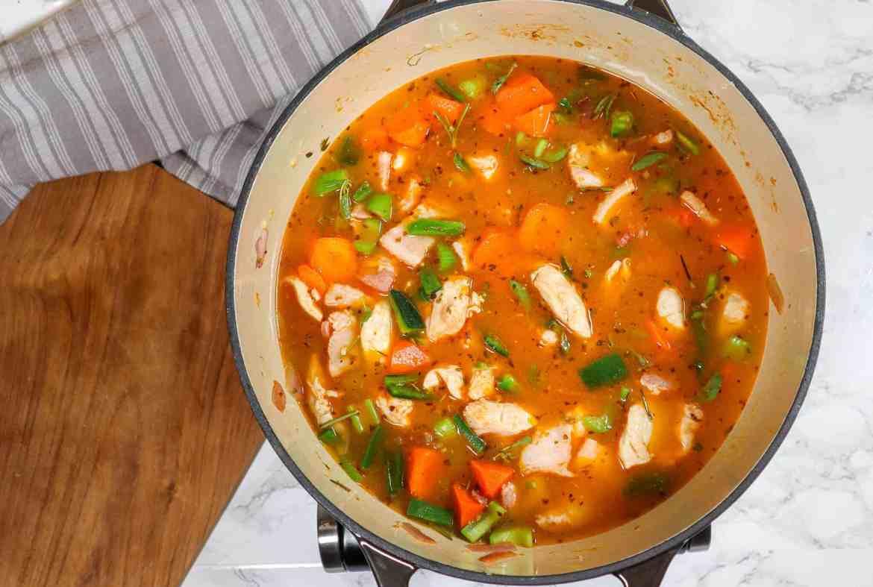 making chicken gnocchi soup using trader joes gnocchi