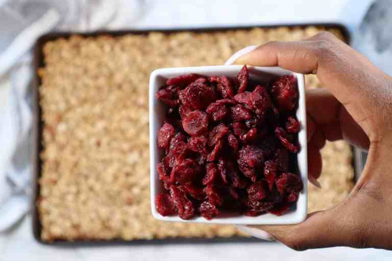 dried cranberries for gluten free granola