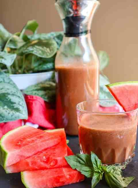 Watermelon Chocolate Smoothie goodfoodbaddie