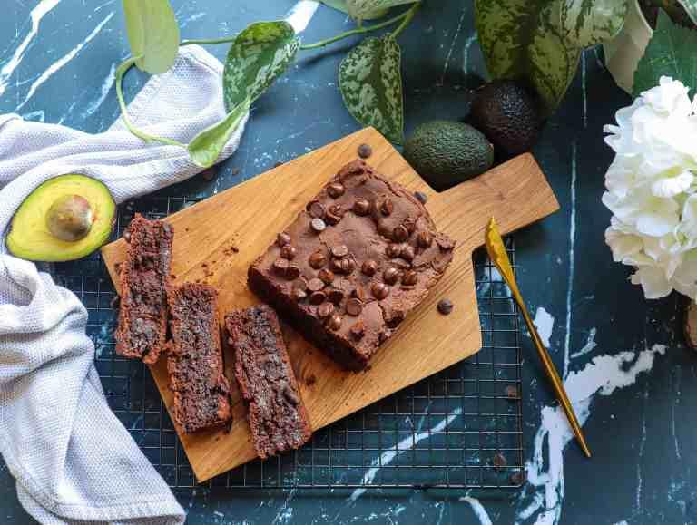 Healthy Chocolate Avocado Bread   Gluten Free and Vegan