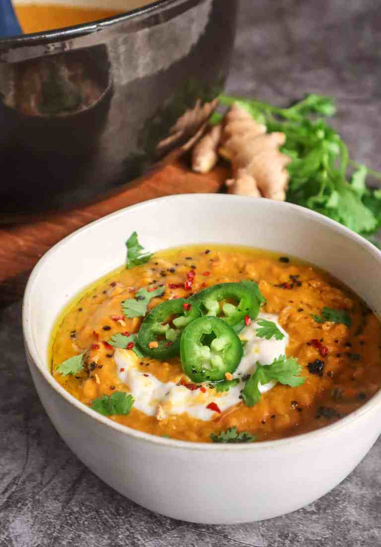 Immunity Boosting Coconut Carrot Lentil Soup
