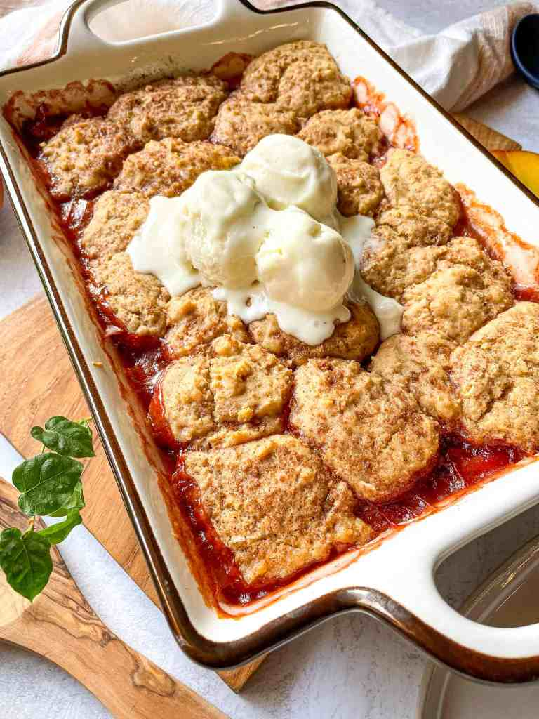 vegan gluten free peach cobbler