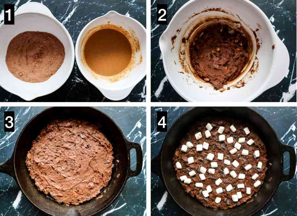 How to make Rocky Road Brownies Gluten Free Vegan. step by step images