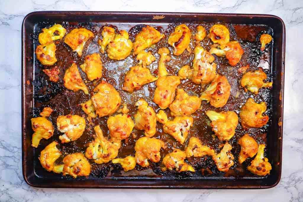 Baked Orange Cauliflower Wings