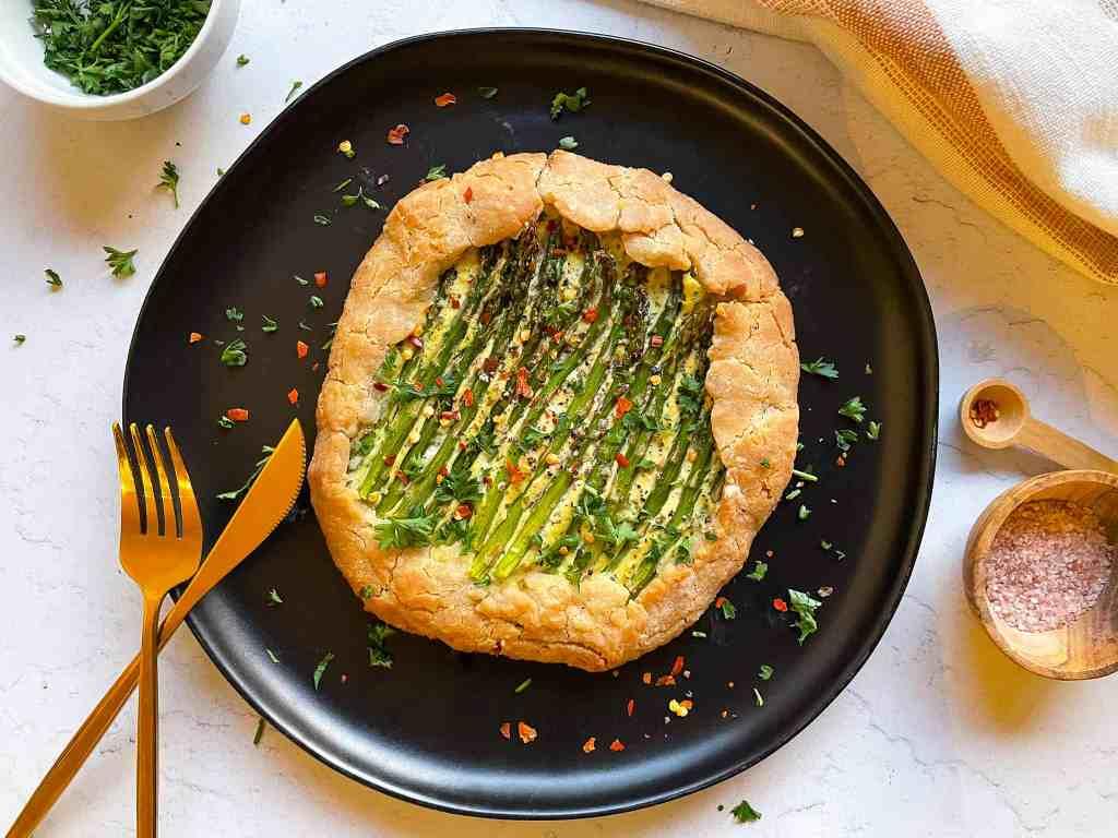 Vegan Asparagus Galette