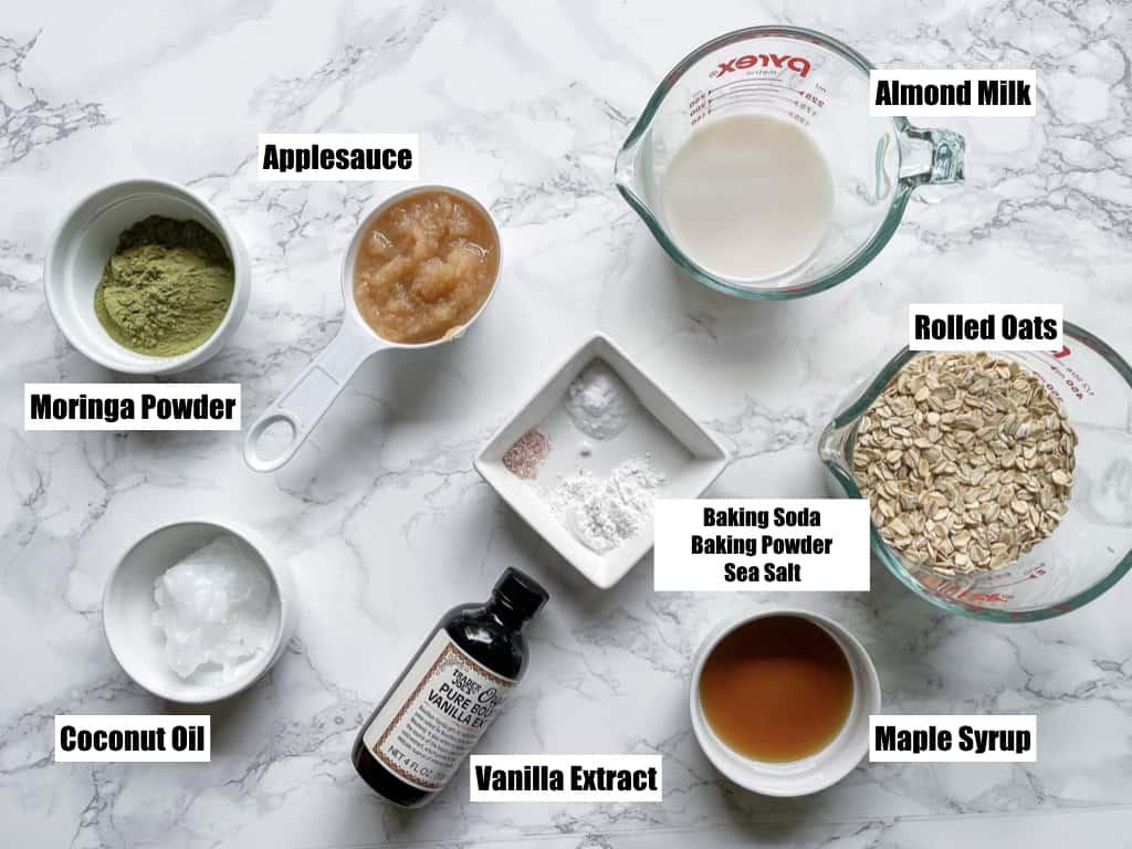 ingredients to make moringa pancake mix from scratch