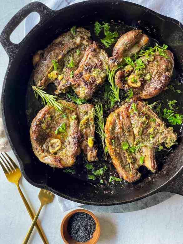 Easy Garlic Herb Lamb Shoulder Chops