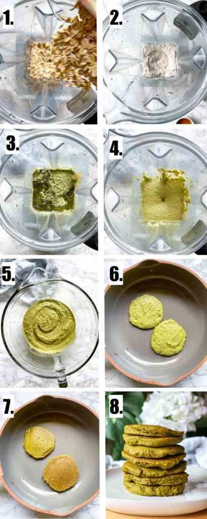 Steps to make homemade moringa pancakes