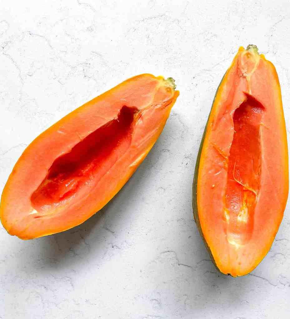 Ripe Papaya to make nice cream (no churn ice cream)