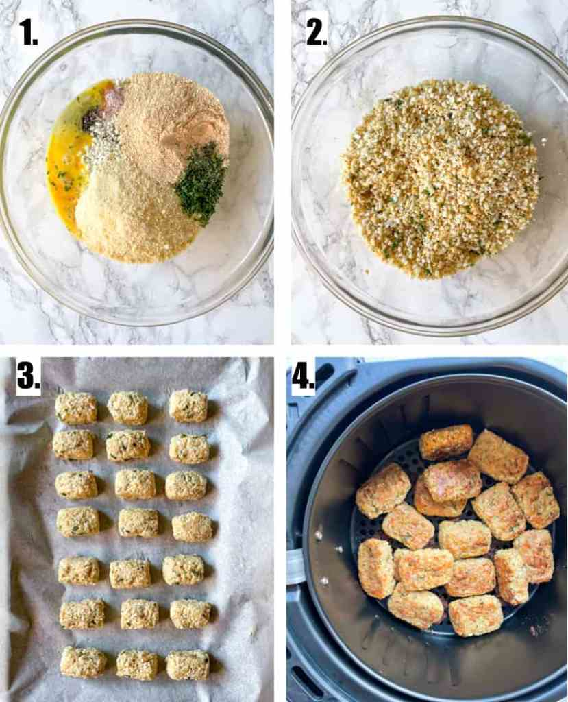 How to Make Cauliflower Tots in the Air fryer or oven