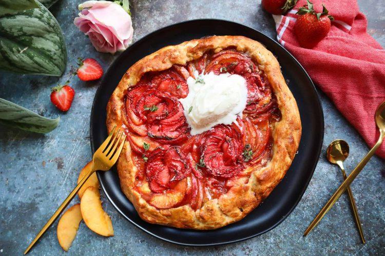 Strawberry Peach Galette Gluten Free